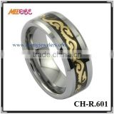Tungsten carbide mens gold rings dragon modern wedding rings good metal rings