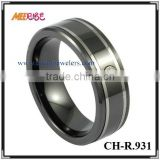 2015 Triton Black ceramic Diamond Wedding Band/rings