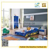 modern teen bedroom furniture sets with children car bed design blue color