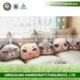 QQ Pet Factory Custom Back Rest Pillow Cute Cat Face Pillows