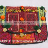 Latest 2015 INDIAN OLD VINTAGE ANTIQUE ETHNIC HANDMADE BANJARA TRIBAL BAG/TOTE BAG/CLUTCH BAG