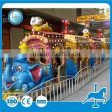Hot Indoor Play Centre Equipment Electric Track Elephant Train For Sale