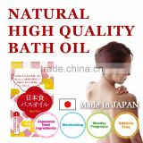 High quality and highly moisturizing bath oil made of Japanese food raw materials , oil bath sesame