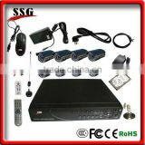 8 channels camera dvr with built-in best burglar alarm systems support mobile surveillance