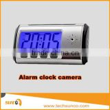 720P battery powered alarm clock security camera