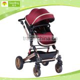 High quality foldable baby stroller pram 3 in 1 baby pram with alloy frame