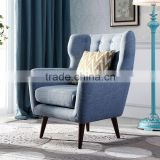 Country Style soldi wood sofa chair wing chair fabric chair chinese furniture manufacturer