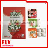 Fruity Jam Filled Long Taste Bubble Candy , Square Shaped Chewing Gum