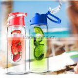 Lemon Orange Juice water pitcher with fruit insert,infuser bottle