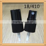 18 410 screw Fancy Black Cosmetic Plastic Spray Pump/Water Mist Sprayer /fine mist sprayer with cap
