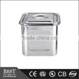 stackable stainless steel Square bain marie pot with lid