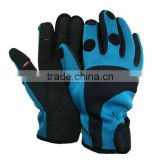 Neoprene foldback fingerless gloves/ slit finger fishing gloves