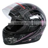 Motorcycle Pink Black Butterfly Motorcycle Full Face Helmet Street Bike Scooter DOT S M L