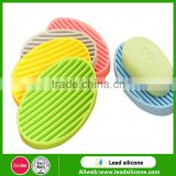 Silicone Oval Shape Shower Soap Saver Dish Holder