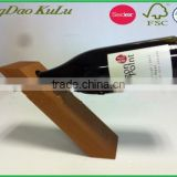 eco friendly single bottle decoravite animal wooden wine bottle holder for sale