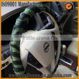 black cool knitted steering wheel cover