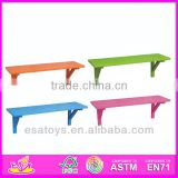 2014 New kids wooden Wall shelf, popular children wooden Wall shelf and hot sale colorful baby wooden Wall shelf W08C044