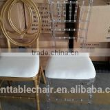 clear Resin plastic Chair clear tiffany chair for wholesale Wedding furniture event rental