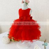Retail Hot! 2015 baby girl dress lace multi-layer tulle cute princess dress bow belt fashion vestido meninas