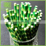 Green Bamboo Food Grade Paper Drinking Straw Wholesale