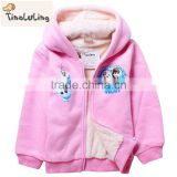 2015 New Winter Girl's winter Cotton Colar Fleece Jackets,Kids Coats,Children's Outwear