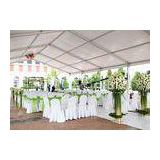 Heavy Duty Aluminum White 20 By 20 Outdoor Party Tent For Wedding , Clear Span Tent