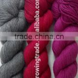 wholesale yak and wool hand knitting yarn worsted yak wool blended skein hank