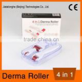 New arrival 4 in 1 derma roller set with 3 separate heads 300/720/1200 needles