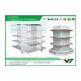 Plain Back Panel Doule side cosmetic shelf store or Supermarket Shelving Set