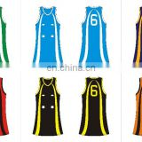 new style sublimation custom netball wear