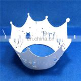 Lovely princess crown Laser Cut cupcake wrappers birthday wedding party cake decoration baby shower favors