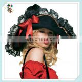 Halloween Party Costume Black Swashbuckler Ladies Pirate Hats HPC-0276