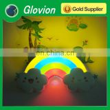 Glovion Cute desk lamp for baby sleep sound and light control wall sticker light multi-color novelty decorative bedroom lamp