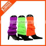Wholesale custom knit acrylic women's leg warmer