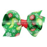 Christmas gift ,8 in 1 Christmas Ornaments Butterfly Knot Colorful Ribbon Hairpin Set
