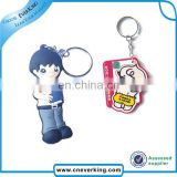 new arrival soft plastic keychain, customized pvc keychain china supplier, professional production OEM
