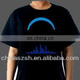 Cool customzied logo light up LED T-shirt control by sound
