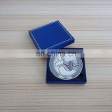 3inch antique silver 3D Awards Medals coins for Government with gift box