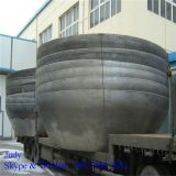 Top quality Conical dished heads, flanging steel cone dish heads