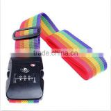 Hot Sale TSA 3-dial Luggage Straps Lock Adjustable Suitcase Travel Belt Rainbow