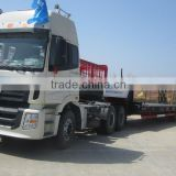 3 axles low bed loader trailer