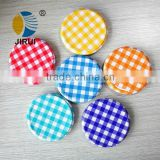 82mm Chequer tin lid mental screw cap