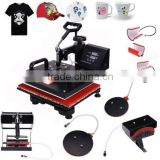 "Pro 8 IN 1 Plate Mug Cap T-Shirt Multifunctional Digital Heat Press Transfer Machine Sublimation 15""x12"""