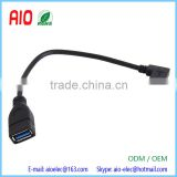 Right Angle Reversible USB 3.1 Type C Male to USB 3.0 Female OTG Data Connector Cable Adapter