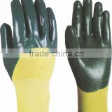 Nitrile coated glove,safety gloves nitrile coated with 13gauge(wear portable)