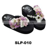 Fashion flower design eva cheap slipper for women