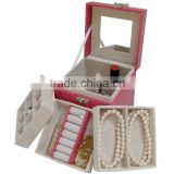 AN571 ANPHY Fashion Leather Flannelette Jewelry Cosmetic Gift Box Display Stock 12.5*12.5*12.5cm