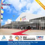 no interior poles head moving tent constructions sale with air conditioner/Wooden flooring in Beijing