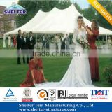 2013 sturdy hard pressed extruded aluminium Elegan design pole marquee for wedding party with
