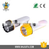 JF Plastic ABS Material Hand Flashlight,1 led plastic flashlight battery operated flashlight,low price 1LED flashlight